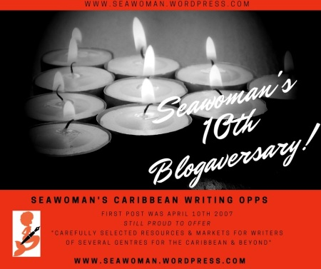 Seawoman's 10th Blogaversary! - 1st Post April 10th 2007. www.seawoman.wordpress.com