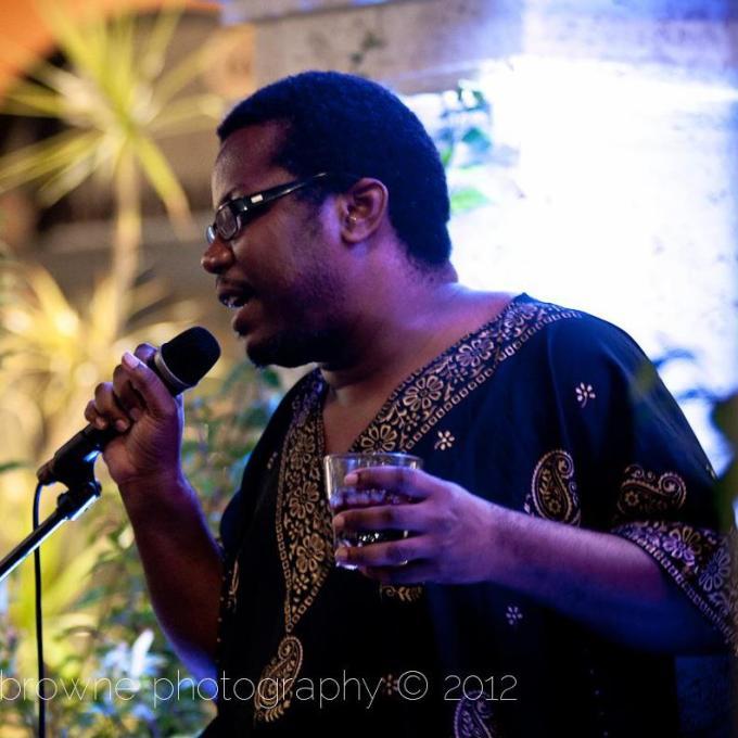 Bajan performance poet Robert Gibson aka Passionpoet