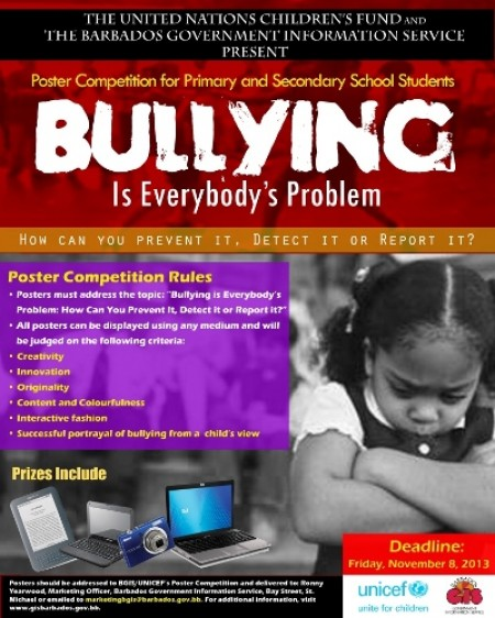 """Bullying Is Everbody's Business"" Poster Competition - BGIS & UNICEF"