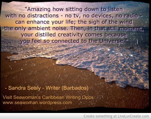 Quote by Sandra Sealy